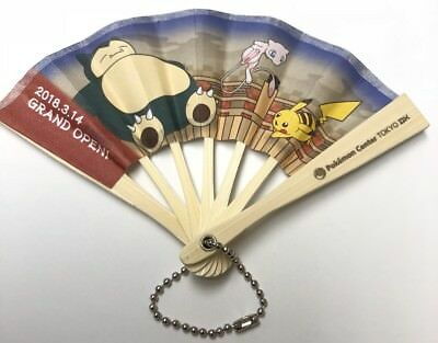 Pokemon Center Tokyo DX Mini Folding Paper Fan Snorlax Mew Exclusive