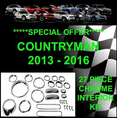 BMW MINI R60 Countryman 2013 - 2016  CHROME INTERIOR KIT