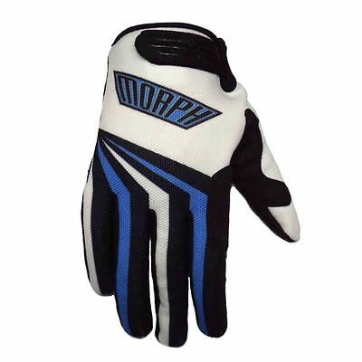 MORPH Racing - motocross mx atv dirt bike mtb moto bmx - White Blue XL gloves