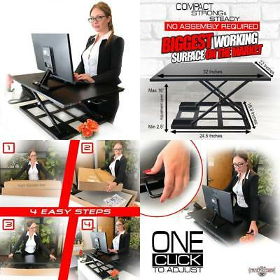 Standing Sit And Stand Up Desk - Easy Height Adjustable Table Jack Desk Converte