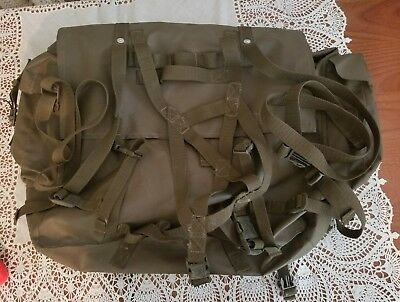 2 Two Swiss Army Military Rubberized Bags, W/ All Original Straps (Saddlebags?)