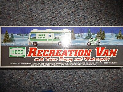 Hess Recreation Van With Dune Buggy And Motorcycle 1998 *new*