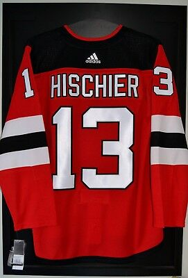 size 40 8b6ee 94175 NICO HISCHIER NEW Jersey Devils Adidas Home NHL Hockey Jersey Size 52