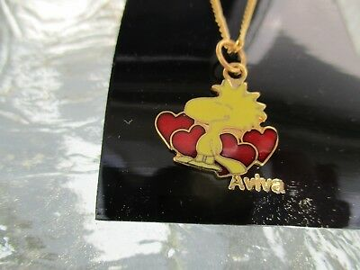 Snoopy Jewelry ~ Woodstock in Hearts ~ NECKLACE