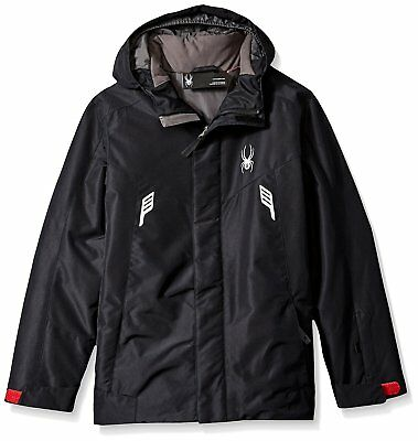 fd3f380957e5 Spyder Kids Chambers Jacket Big Kids RedBlackRed Boys Coat