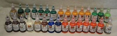 Scribbles 3D Fabric Paint lot of 30 shiny & 5 iridescent 1 oz bottles