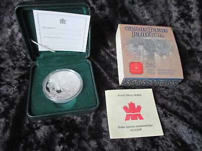 2002 Canadian Silver Dollar Jubilee Proof With Case And Coa