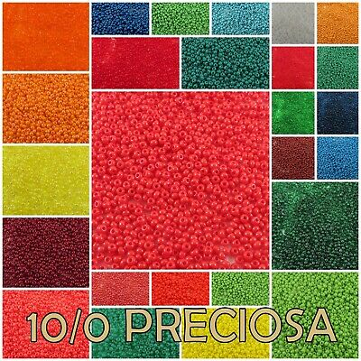 10/0 Preciosa Czech Round Loose Glass Rocailles Seed Beads #50060-98140