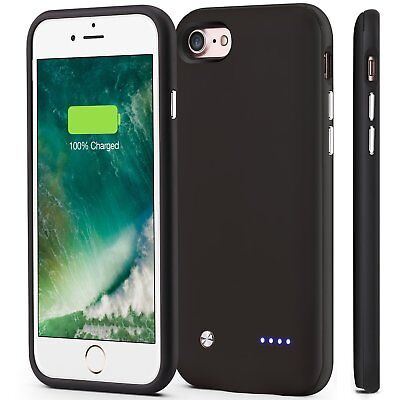 iPhone 8/7 Battery Case 3000mAh Ultra Slim Portable Power Backup Charging Cover