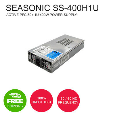 Seasonic SS-400H1U Active PFC 80+ 1U 400W Power Supply Low Ripple and Noise