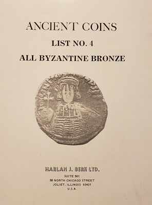 Harlan Berk #4 - early 1976 catalog of All Byzantine Bronze Coins