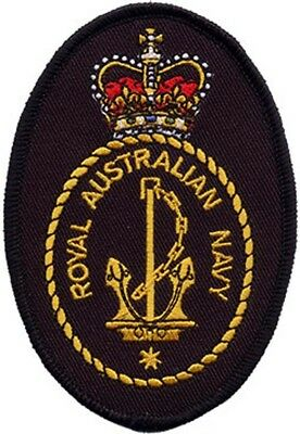 Royal Australian Navy RAN Crest Embroidered Crest Patch
