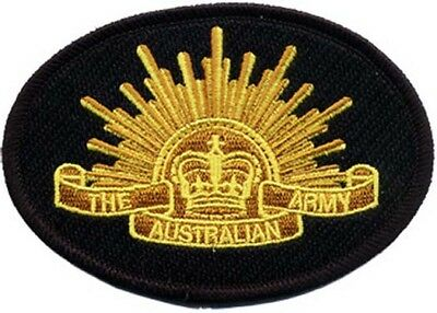 Australian Army Rising Sun Crest Embroidered Crest Patch