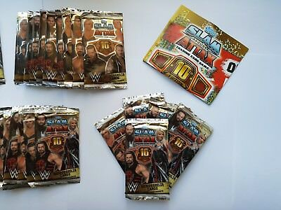 TOPPS WW SLAM ATTAX 10th EDITION WRESTLING TRADING CARDS 36 NEW SEALED PACKS