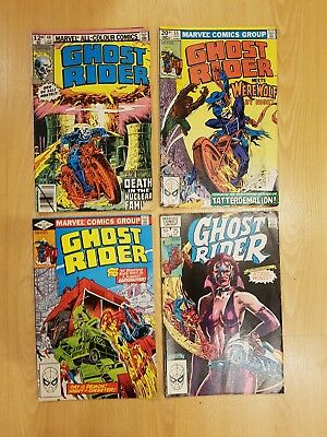 GHOST RIDER  four comics #40,55,69 and 75   1979