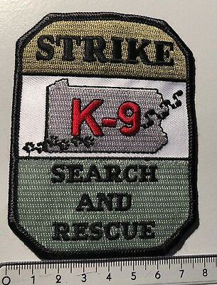 Aufnäher Rettungshundestaffel Strike K-9 Search and Rescue Dogs USA