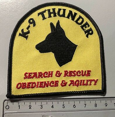 Aufnäher Rettungshunde K-9 Thunder Search & Rescue, Obedience & Agility USA