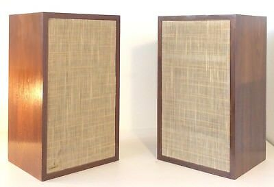 Pair of Vintage Dynaco A25 Speaker Monitors Wood Cabinet