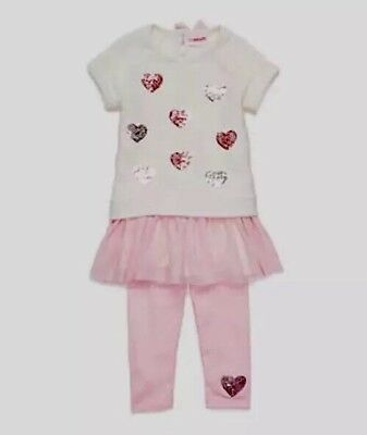 Nwt Flapdoodles Toddler Girls Size 2T ~ Two Piece Heart Sequin Dress Set