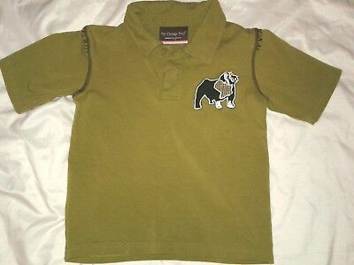 My Vintage Baby Collection By Jessica Boys Size 4T  Olive Big Dog Polo Shirt