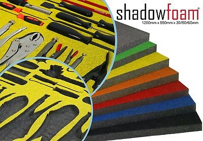 Shadow Foam Sheet | Stanley Yellow | Lean Tool Control Organiser | FOD & 5S Aid