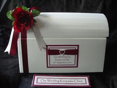 Personalised Rose Post Chest Card Box Wedding Engagement Birthdays