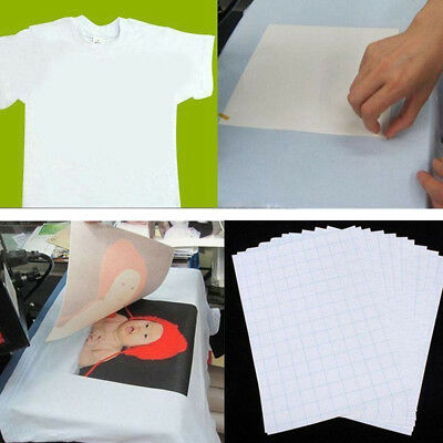 EP_ 10pcs T-Shirt Print Iron-On Heat Transfer Paper Sheets For Dark/Light Cloth