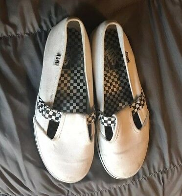 d9106ac84b06c2 Vans Off The Wall White   Checker Strap Slip On Shoe Canvas Size 2.0 Missy