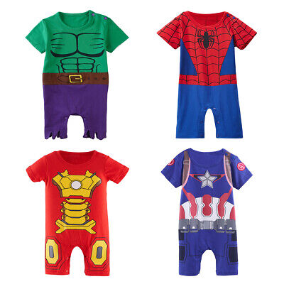 Baby Boys The Avengers Costume Romper Newborn Superhero Outfits Infant Playsuit