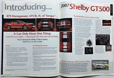 Mint 2007 Ford Mustang Shelby Gt500 Featured In Ford Dealer Brochure! 31 Pages!