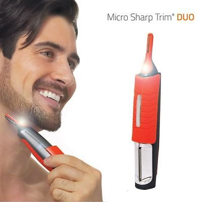 Micro Sharp Trim Duo Hair Beard Moustache Trimmer, Men's Grooming Styling Shaver