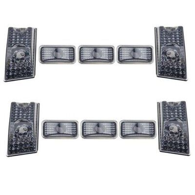 10pcs Smoke Top Roof Cab Marker Light Cover Lens for 2003-2009 Hummer H2 SUV SUT