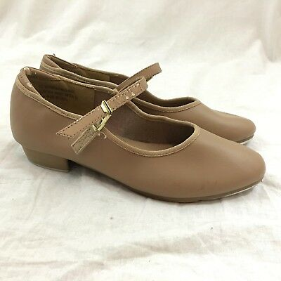 Theatricals Tap Women's Tan Slip On Tap Shoes Size: 3M