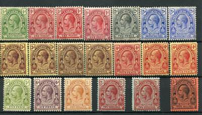 Turks & Caicos 1913-21 set + mosted listed shades SG129/39+ MLH/MM cat £100+