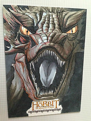 The Hobbit Desolation of Smaug Sketch Card by Eric Lehtomen