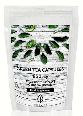 Green Tea 850mg Camellia Extract  30/60/90/120/180/250 Capsules Antioxidant