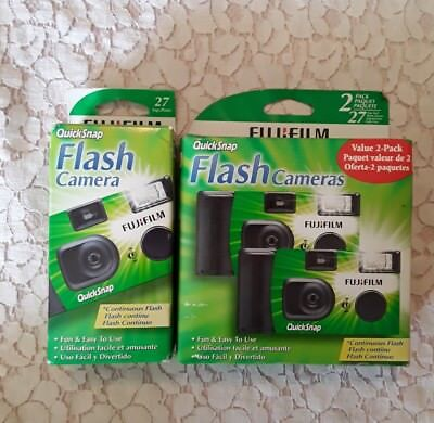 Fujifilm Value 2-Pack One-Time-Single-Use Cameras New also 1 pack included