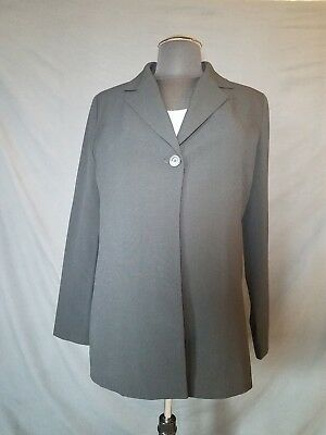 Liz Lange Black Maternity Blazer One Button Size 10