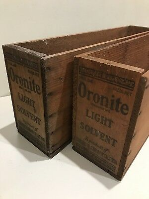 Two Vintage Oronite Standard Oil Company Of California Wood Crates