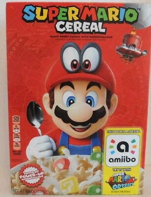 Kellog's SUPER MARIO ODYSSEY CEREAL Limited Edition Nintendo W/ Amiibo SHIPS NOW