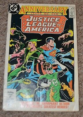 DC Comics Justice League of America issue 250 FN+