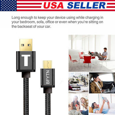 Micro USB Braided Charging Cable Date Line for Android iphone Samsung S6 S7 S8