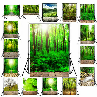Photo Background Forest & Plank Natural Wall Photography Backdrops Studio props