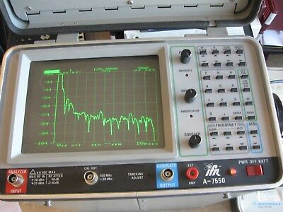 IFR A-7550 Spectrum Analyzer  UNTESTED-POWERS ON-AS IS Options 2,4,6