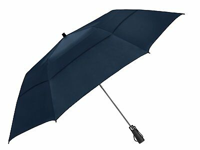 EEZ-Y Folding Golf Umbrella 58-inch Extra Large Windproof Double Canopy - Auto O