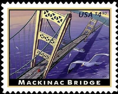 Mackinac Bridge Michigan #4438 Mint NH  Priority Mail Stamp issued 2010