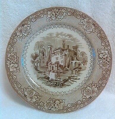 "Early Ca. 1840 Transferware  7""  Plate Very Rare Alhambra Pattern Castles"