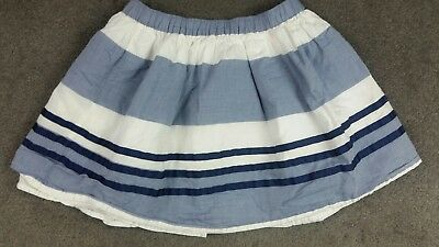 Gymboree Girls Size 8 Blue White Lined Skirt (Y1)