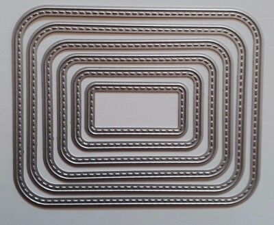 Rounded corner rectangular nesting Dies Suitable for Sizzix Cuttlebug Machines