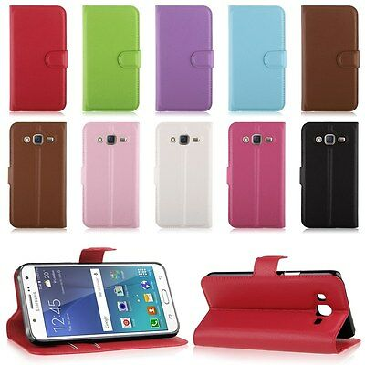 Wallet Card Flip Leather Case Cover Stand Skin For Samsung Galaxy J5 SM-J500F